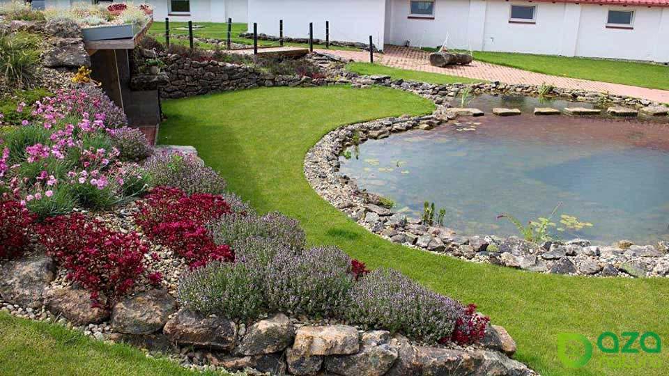 Zahrada s jezírkem na klíč