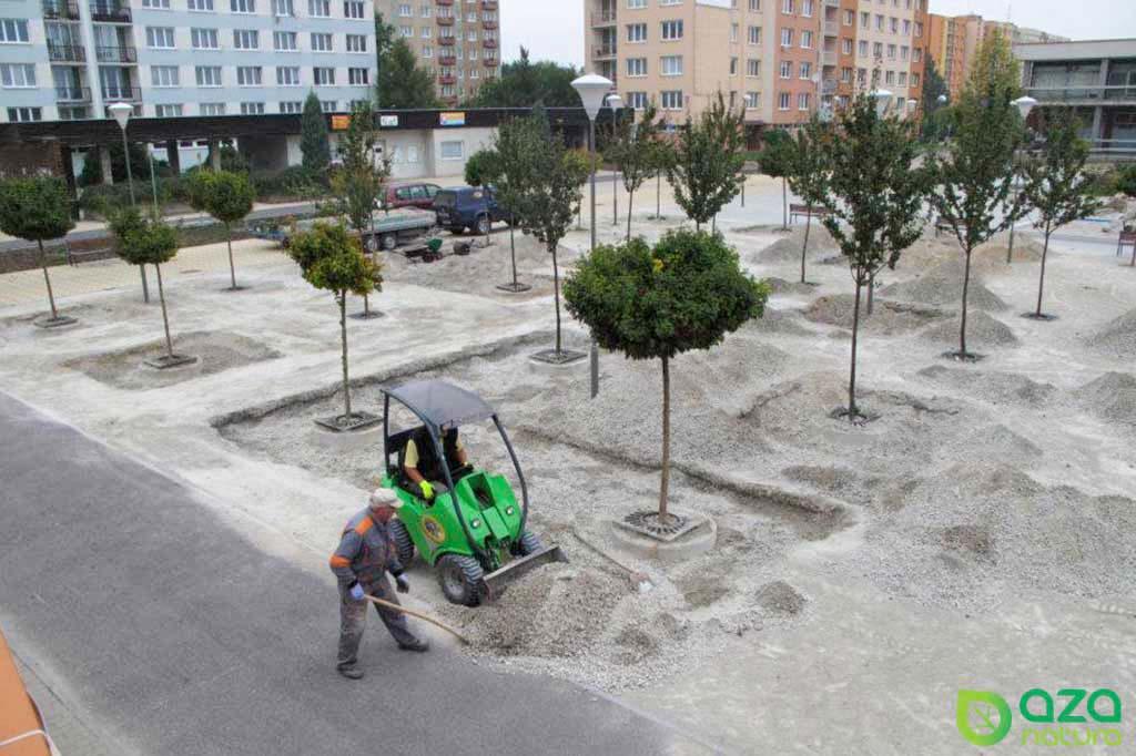Realizace parku v Českých Budějovicích