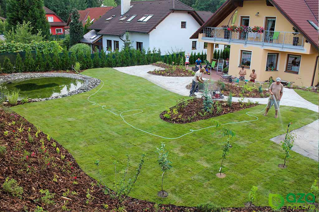 Realizace zahrady s jezírkem