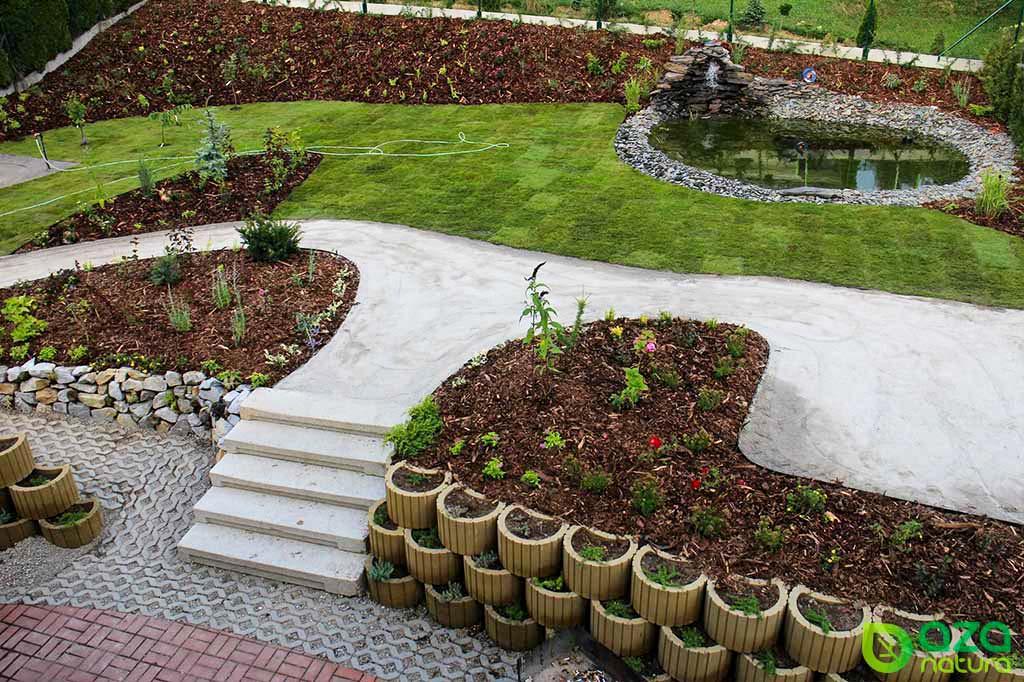 Zahrada na klíč s jezírkem