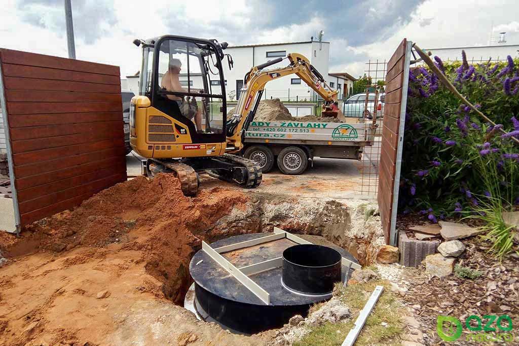 Zabudování nádrže na dešťovou vodu