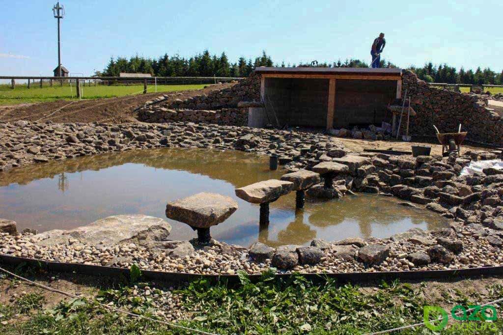 Upevnění funkčních nášlapných kamenů